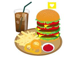 クレジットカードの提示でハンバーガーがお得に